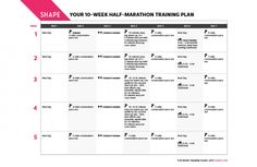 10-Week Training Plan for Your First Half-Marathon