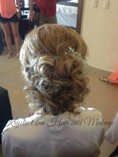 Hair: www.krystieann.com  Wedding Hair, Bridal Hair, Updo, wedding hair styles, wedding updo, bride, tousled updo, messy updo, loose bun, punta cana bride, beach wedding hair, destination wedding hair, dreams palm beach