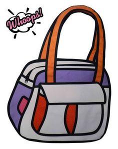 Bolsa 2D Puddin - Laranja (ref. BL001B)   #whoops2dbags #bolsa2D #bolsa3D #fundesign #cartoonbag