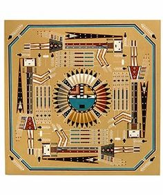 Shop for Navajo Sand Painting Moon w/Rainbow Girls (Native American). Get free delivery On EVERYTHING* Overstock - Your Online Art Gallery Destination! Native American Symbols, Native American Photos, Native American Design, Native American Artists, American Indian Art, Native American Beading, Native American Indians, Sand Painting, Sand Art