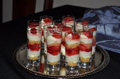 J. At Your Service: Strawberry Cheesecake Dessert Shots