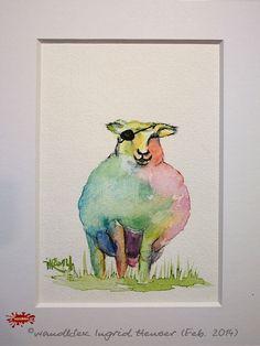 """No. 011 der wandklex-Unikatserie """"Ich war schon immer das Bunte Schaf der Familie"""" - nummerierte Einzelstücke! Ihr eigenes Schaf können Sie als Ihr Designerstück von wandklex® Ingrid Heuser, Ratzeburg, Germany bestellen:  im kleinen Klexshop bei DaWanda auf http://de.dawanda.com/shop/wandklex ©  Kunstatelier wandklex Ingrid Heuser, D-Ratzeburg Besuchen Sie mich auch auf facebook: https://www.facebook.com/wandklex"""