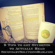 9 Tips to Inspire Students to Actually Read | Secondary Solutions; also includes links for further info