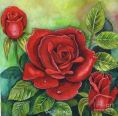 The Rose Of Love Painting - The Rose Of Love Fine Art Print