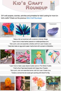 16 DIY craft projects, tutorials, activities and printables for kids!