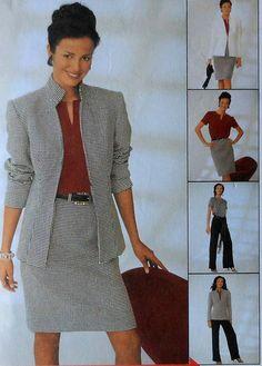 Jacket Skirt Top and Pants Sewing Pattern #BusinessWardrobe