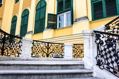 Palace Schönbrunn - the summer residence of the Habsburgs. The stunning Baroque palace is a must-visit destination on your Viennese trip. Vienna, Palace, Stairs, Home Decor, Stairway, Decoration Home, Staircases, Room Decor, Stairways
