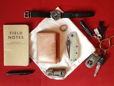Field Notes notebook Fisher Space Pen Bullet Seiko 5 automatic...