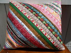 Bohemian Diagonal Woven Trim adorned Envelope by attickpatchwork