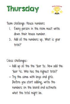 Room 12's Blog: Maths Week Challenges Team Challenges, Maths, Writing, Room, Bedroom, Rooms, Peace, Writing Process