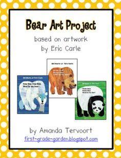 Directions and tracers for a fun and easy art project to create a cute bear art piece. Same tracers can be used to make a brown bear, black bear, p...