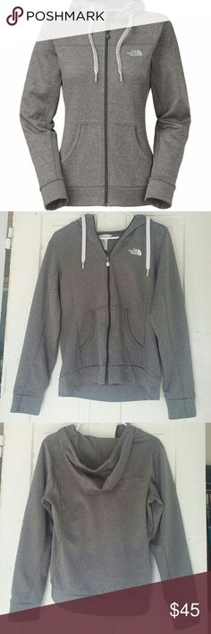North Face Fave-Our-Ite Full Zip Hoodie This is in PERFECT condition. There are no flaws and it has barely been worn. It's warm and comfortable! As North Face generally is, it is very well made, as well.  Model? Bundle discounts? Trades? Offers?  ALWAYS feel free to ask questions! I'm always willing to answer. North Face Jackets & Coats
