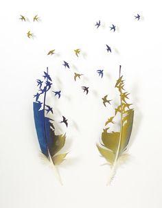 More Gorgeous, Delicate Images That Are Carved Out Of Feathers - DesignTAXI.com