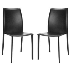 I pinned this Aidan Side Chair in Black - Set of 2 from the On the Softer Side event at Joss and Main!
