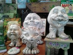 These are plant pots, some say there cute, some say they are creepy!  I say cute!
