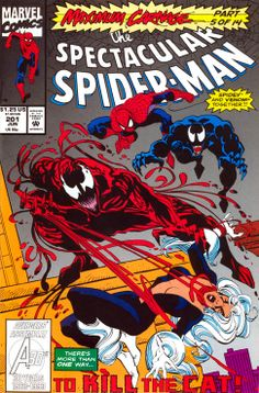 Spectacular Spiderman J M DeMatteis & Sal Buscema Maximum Carnage Part To Kill the Cat: Books Spectacular Spider Man, Amazing Spider, Marvel Comic Books, Marvel Characters, Spiderman Maximum Carnage, Cloak And Dagger, Comic Book Covers, Manga, Comic Artist