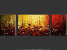 """Mountain Poppies"" - Original Flower Paintings by Lena Karpinsky, http://www.artbylena.com/original-painting/20624/mountain-poppies.html"