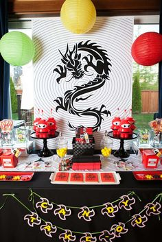 Anders Ruff Custom Designs, LLC: A Lego Ninjago Inspired Birthday Party Ninja Birthday Parties, Kids Birthday Party Invitations, Birthday Party Decorations, Lego Parties, Ninjago Party, Lego Ninjago, Lego Lego, Lego Batman, Chinese Birthday