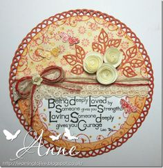 LOTV - Quotables - Love. Card by DT Anne