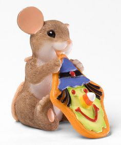Another great find on #zulily! Mackenzie Mouse Eating Figurine #zulilyfinds
