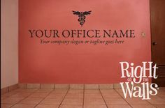 Veterinarian Wall Decal Business Name With Tagline Sticker Medical Office Decorvet