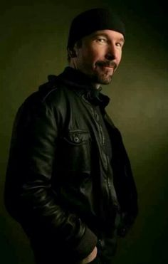 The Edge, being adorable. He cant help it.
