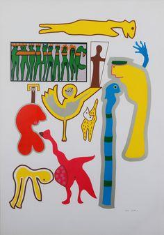 Walter Battiss Untitled (16/45) 2015-08 / RK / 13.000 ZAR Walter Battiss, South African Artists, Top Artists, Artisan Cafe, Abstract Art, Gallery Wall, Gerhard Richter, Expressionism, Painting Art