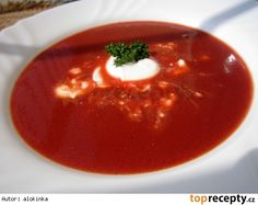 Pikantní polévka z ? Soup Recipes, Cooking Recipes, Modern Food, Detox Soup, Food 52, Thai Red Curry, Crockpot, Food And Drink, Vegetarian