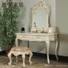 Amazing Vanity And Stool   Best French Provincial Bedroom Furniture Luxury Furniture  Dressing Table Classic Online With