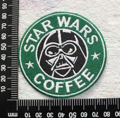 Star Wars Patch Coffee Logo Darth Vader Sew on Iron on Logo Patches CD137 by JIEstore on Etsy https://www.etsy.com/au/listing/288811633/star-wars-patch-coffee-logo-darth-vader
