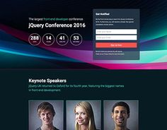 """Check out new work on my @Behance portfolio: """"Conference Landing Page"""" http://be.net/gallery/34882943/Conference-Landing-Page"""