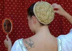 elizabethan hair covers - Google Search