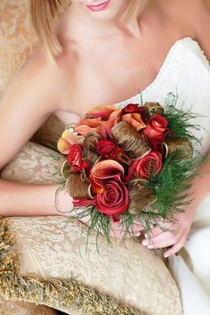 Maybe bronze should be a wedding color? I like it with the cranberry and pale orange
