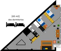 This is the plan of our two bedroom apartments / Plano de nuestros apartamentos de 2 dormitorios (Gral. Díaz Porlier) http://www.primeresidence.es/#!dos-dormitorios/cmwc