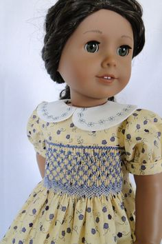 Hand Smocked dress for the American girl doll