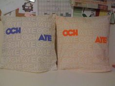 amazing cushions by Much Too Fun