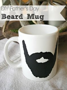 DIY beard mug McCarthy McCarthy Walker for Cade? Diy Crafts For Gifts, Easy Diy Crafts, Diy Arts And Crafts, Fun Crafts, Crafts For Kids, Birthday Gifts For Brother, Diy Birthday, Home Decor Sets, Father's Day Diy