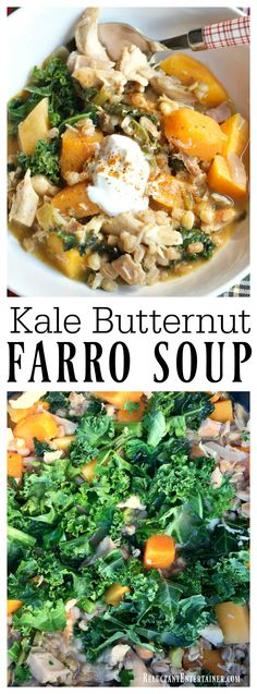 farro kale chicken soup with farro kale and turmeric recipes dishmaps ...
