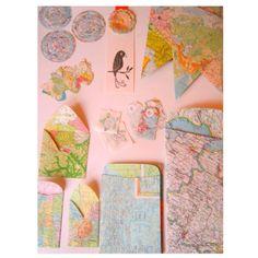 Map stationary/crafts ideas