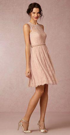 "Blush lace bridesmaid dress 'Celia"" from @BHLDN"