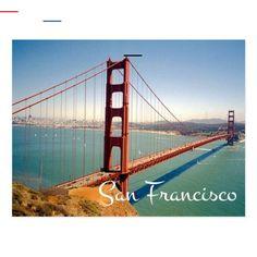 Postal Puente Golden Gate San Francisco CA Postcard San Francisco Cable Car, San Francisco Travel, San Francisco California, San Francisco Skyline, Puente Golden Gate, San Antonio River, Travel Themes, Fun Travel, California Travel