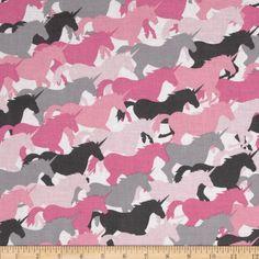 Michael Miller Unicorn Herd Girl Fabric