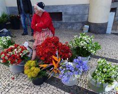 Die Marktfrau wartet auf Geschäfte ...