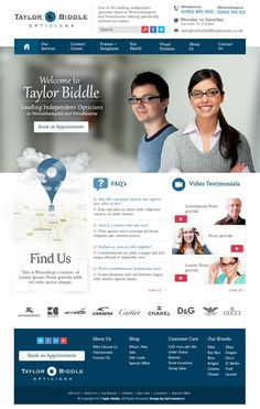Optician web site design