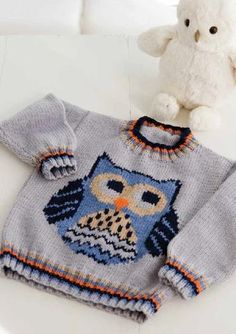 Owl Pullover in Deramores Baby DK - Digital Version