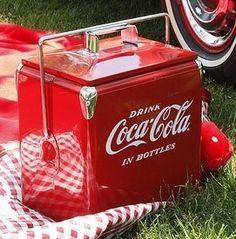 Classic Coca Cola Picnic Cooler By American Retro