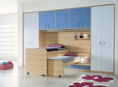 Some really clever space arrangements on these pages...creative bunk bed/closet configurations
