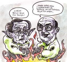Andreotti e Craxi nell'aldilà