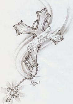Catégorie: Croix catholique tatouage - Image: Tatouage croix catholique_4 ...