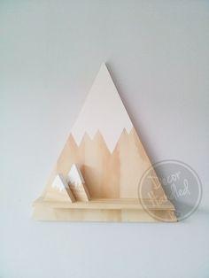 Decor Handled | Dipped Wooden Mountain, Children's Decor